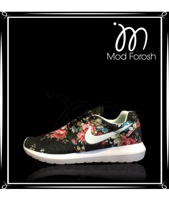 کتانی NIKE مدل Roshe Run flower1